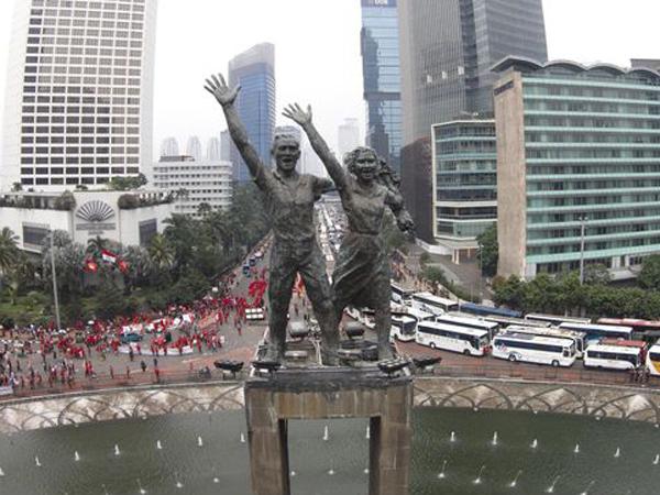 Bertepatan dengan CFD, Buruh Dilarang Demo di Bundaran HI Saat May Day