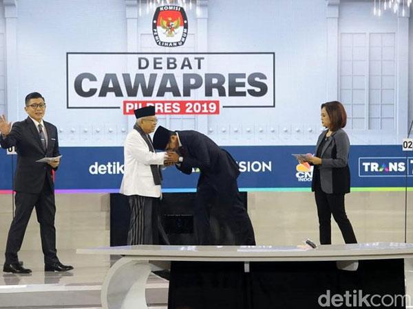 Ribuan Kata Terucap dari Ma'ruf Amin dan Sandiaga Uno Selama Debat, Siapa Paling 'Bawel'?
