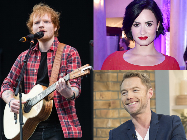 Ronan Keating Hingga Demi Lovato Minta Ed Sheeran Jadi Penyanyi di Pernikahannya