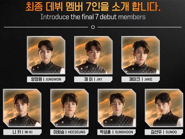 Inilah 7 Finalis 'I-LAND' yang Akan Debut dalam Grup ENHYPEN