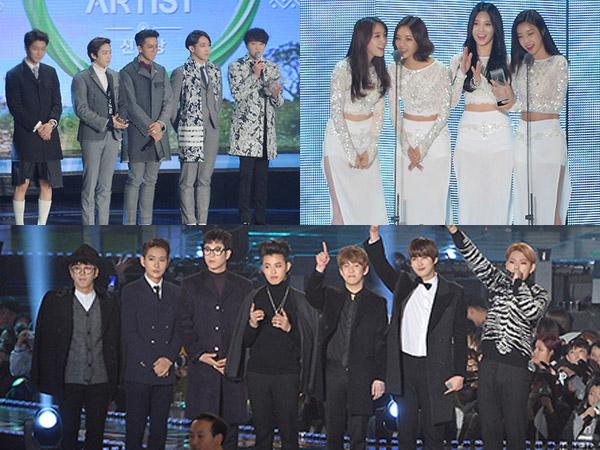 Inilah Para Idola K-Pop Peraih Trophy Penghargaan di 'MelOn Music Awards 2014'!