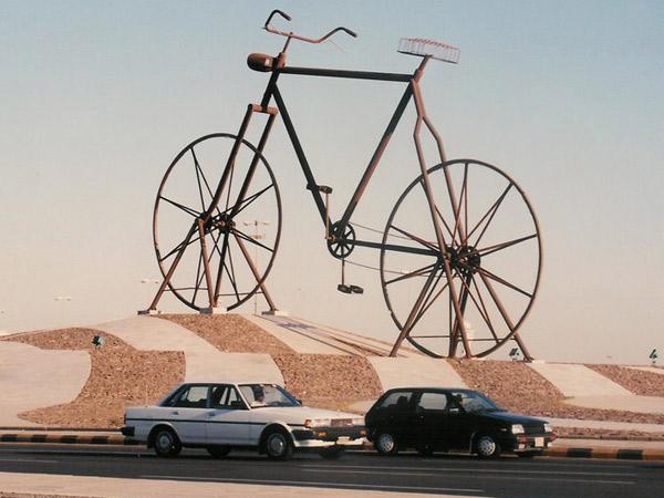 Terungkap, Ternyata Sepeda Nabi Adam Raksasa di Jeddah Ini Dari Indonesia?