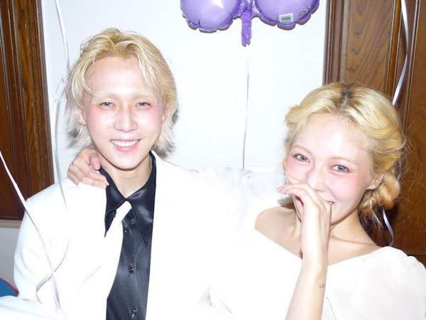 Posting Foto Serba Putih, Fans Curiga HyunA dan Dawn Sudah Menikah