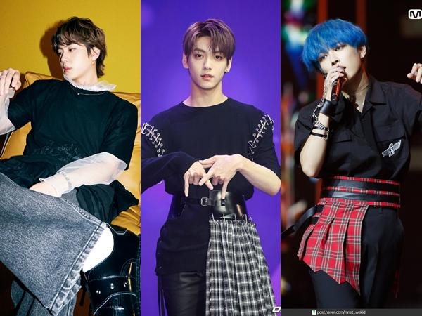 Deretan Idola K-Pop Pria yang Tampil Keren Pakai Rok