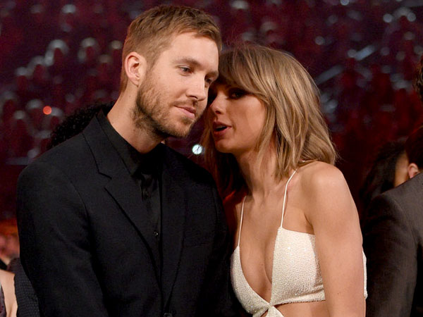 Pesta Bareng Usai Grammy Awards, Taylor Swift Cium Mesra Calvin Harris