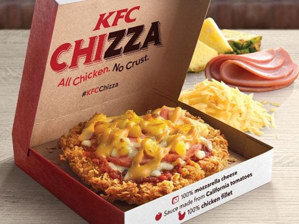 Spesial Valentine, KFC Luncurkan Menu Perpaduan Ayam dan Pizza 'Chizza'