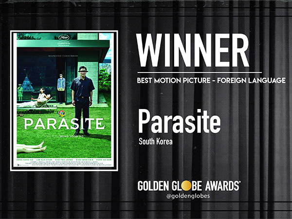 Film Parasite Menangkan Piala Golden Globe 2020!