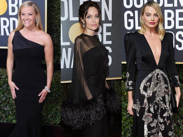 Alasan Selebriti Hollywood Ramai-ramai Pakai Busana Hitam di Golden Globes 2018
