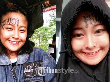 Tanggapan Gadis Viral yang Putuskan Berhijab dengan Tatto di Wajah