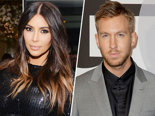 Pasca Berseteru dengan Taylor Swift, Kim Kardashian Pesta Bareng Calvin Harris