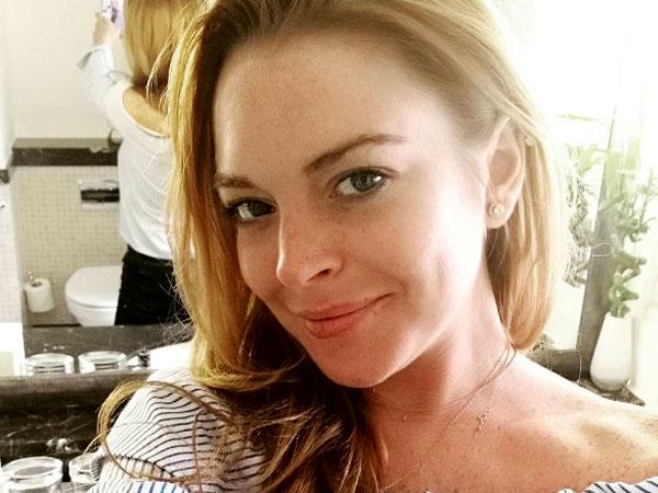Diam-diam Lindsay Lohan Liburan di Bali