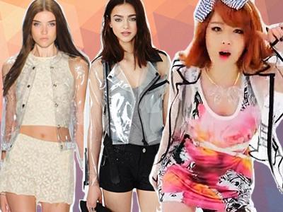 Jaket Transparan, Fashion Paling 'In' Musim ini