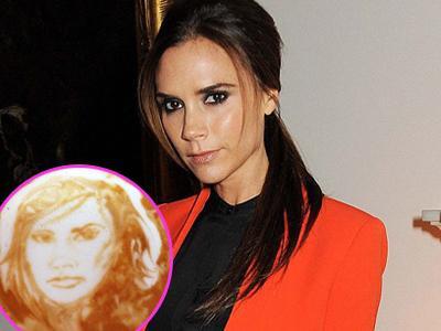 Wow, Victoria Beckham Minum Kopi Bergambar Wajahnya Sendiri!