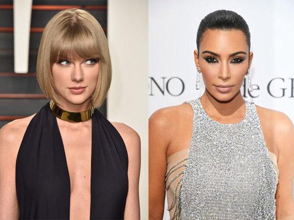 Dianggap Sebagai Musuhnya, Kim Kardashian Justru Ngefans dengan Taylor Swift