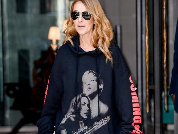 Nostalgia, Celine Dion Kenakan Sweater Bergambar Adegan Ikonik Film 'Titanic'