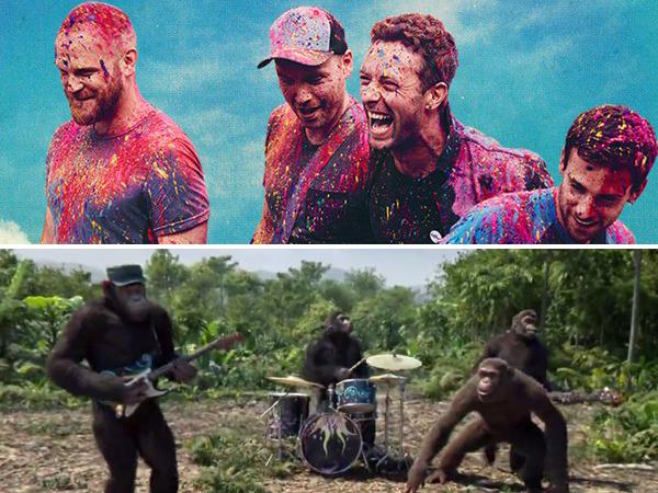 Personil Coldplay Tampil Jadi Hewan Primata di MV 'Adventure Of a Lifetime'