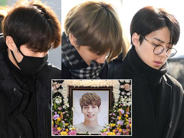 Potret Muram Member EXO Usai Batal Hadiri Pemakaman Jonghyun SHINee