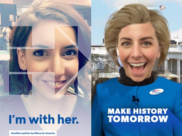 Pikat Anak Muda, Tim Sukses Buat Filter Snapchat Hillary Clinton