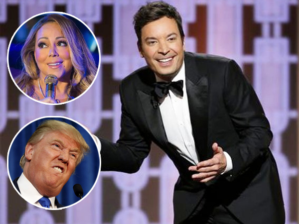 Jadi Host Golden Globes, Jimmy Fallon Olok-olok Mariah Carey dan Donald Trump!