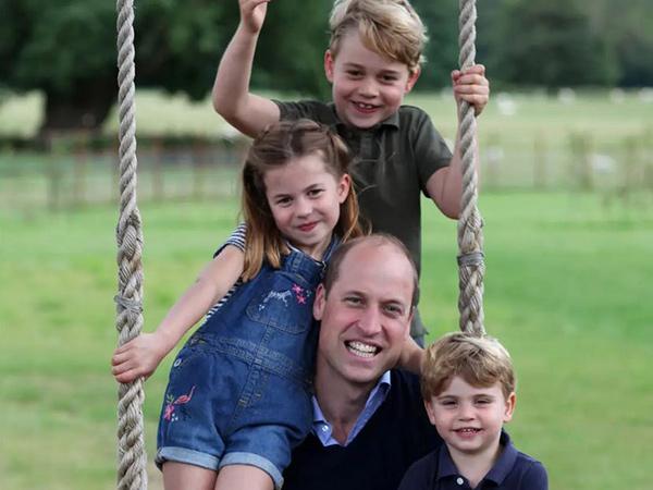 Ultah di Hari Ayah, Kate Middleton Bagikan Momen Menggemaskan Pangeran William dan Anak