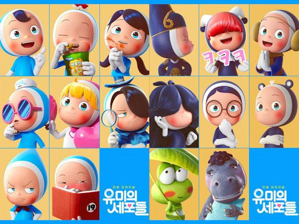 Yumi's Cells Rilis Poster Sel-Sel Kim Go Eun dan Ahn Bo Hyun yang Menggemaskan