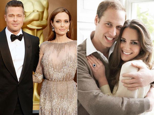 Punya Misi yang Sama, Brad Pitt-Angelina Jolie Diundang Minum Teh Pangeran William-Kate