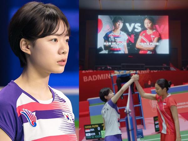Adegan Pertandingan Pemain Drama Racket Boys Lawan Atlit Indonesia