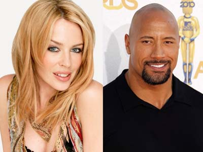 Wah, Kylie Minogue 'Kolaborasi' dengan Dwayne Johnson di 'San Andreas 3D'?