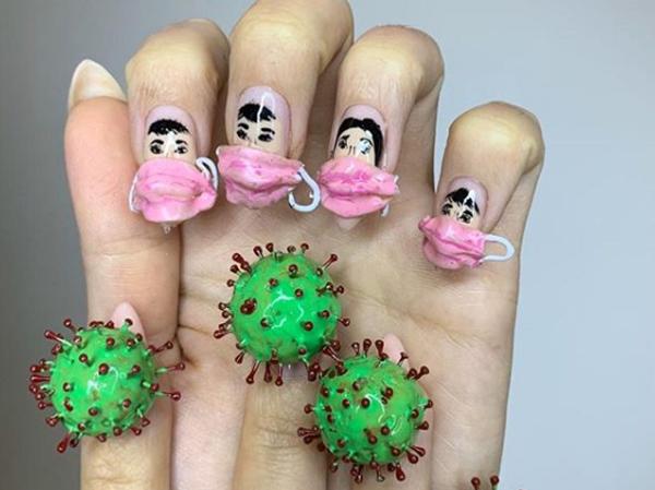 Terinsiprasi Dari Virus Corona, Salon Nail Art di Amerika Tuai Komentar Negatif