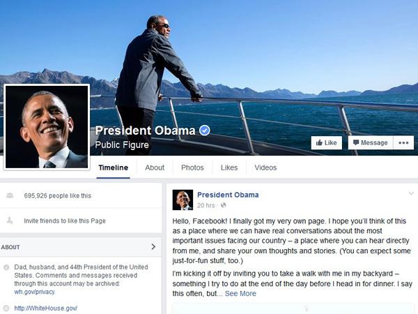 Presiden Obama Buat Akun Pribadi Facebook, Ini Posting-an Pertamanya