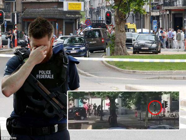 Kengerian TKP Penembakan Belgia yang Pelakunya Tikam dan Tembak Polisi Membabi Buta