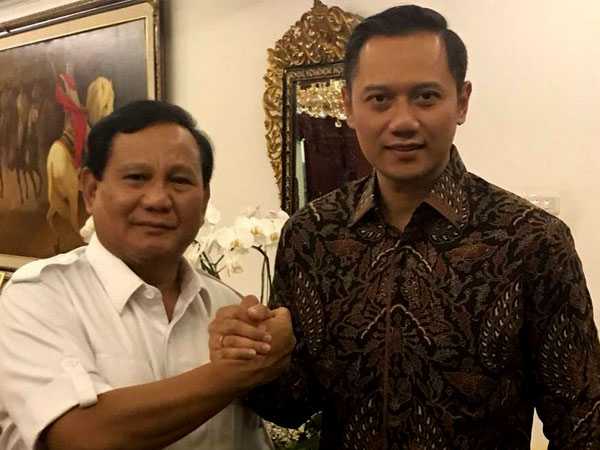 Ini Yang DIbicarakan Prabowo dan AHY Saat Bertemu di Kertanegara