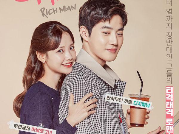 Suho EXO dan Ha Yeon Soo Jadi Pasangan Manis di Poster Drama 'Rich Man'