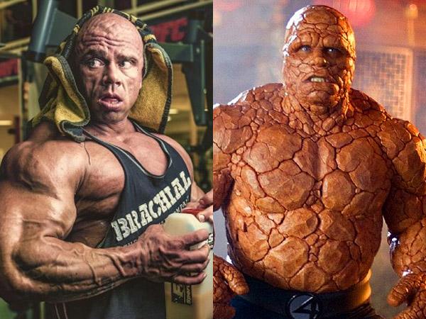 Wow, Tubuh Binaragawan Ini Tampak Mirip Superhero 'The Thing' dalam Film 'Fantastic 4'!