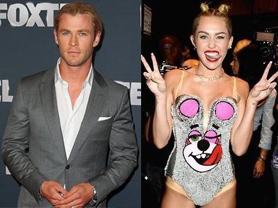 Sibuk, Chris Hemsworth Belum Tonton Aksi VMA Miley Cyrus