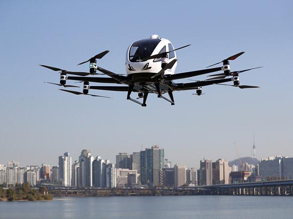 Uji Coba Terbang Pertama Taksi Drone Milik Korea Selatan