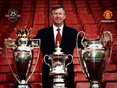 Sir Alex Ferguson Optimis Raih Treble Winner