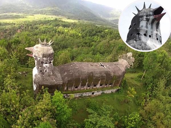Hebohkan Sosial Media, Bangunan Berbentuk Ayam Yang Tersembunyi di Hutan Magelang Ini Ternyata Bukan Gereja