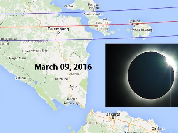 Maret Mendatang, Penduduk Indonesia Akan Menyaksikan Gerhana Matahari Total!