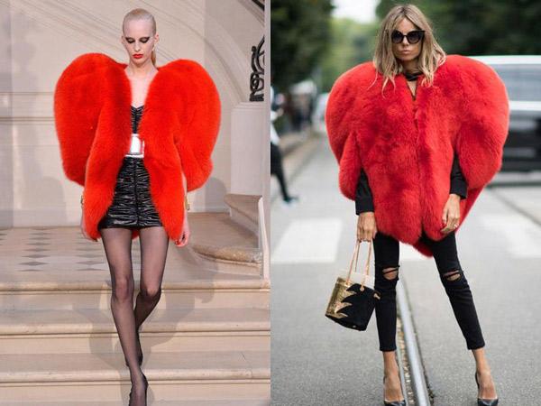 Begini Mantel Bulu Bentuk Hati yang Sempat Jadi Incaran Fashionista Dunia!