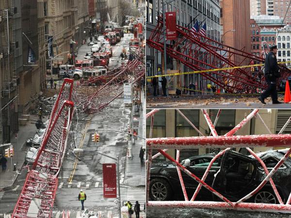 Crane Raksasa Ambruk di Tengah Kota New York, Pemandangan Mencekam