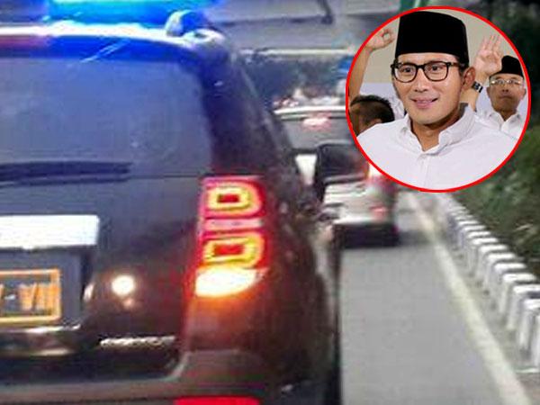 Kata Sandiaga Uno dan Polisi Soal Rombongannya Terobos Jalur Transjakarta
