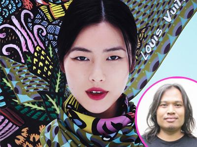Seniman Indonesia Rancang Scarf Louis Vuitton