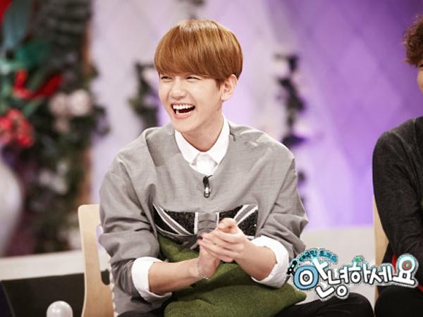 Kocaknya Baekhyun EXO Kembali Parodikan Suara Sepeda Motor di 'Hello Counselor'