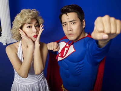 Aksi Lucu Para Pemain 'Cunning Single Lady' Parodikan Marilyn Monroe dan Superman!