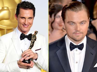 Matthew McConaughey Raih Piala Oscar, Leonardo DiCaprio Gigit Jari!