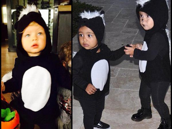 Lucunya! Anak-anak Selebriti Hollywood Ini Kenakan Kostum Halloween Kembar