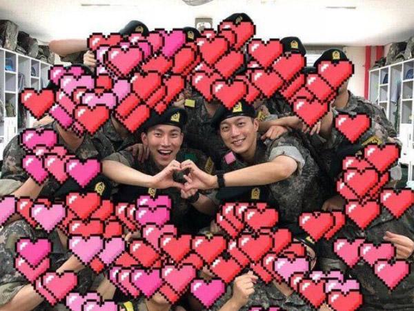 Potret Bahagia Doojoon Highlight dan Eunkwang BTOB Reunian di Markas Militer