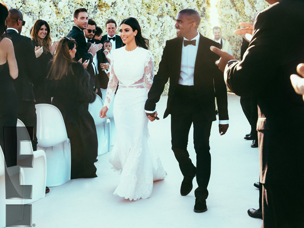 Kim Kardashian dan Kanye West Rilis Foto Resmi Pernikahan Mereka