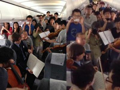 Delay, Pemain Orkestra Konser di Dalam Pesawat